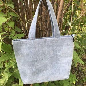 🛍3/$30 Kimiju Blue / Grey Suede Tote